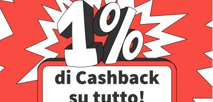 1% Cashback pagamento Satispay
