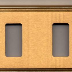 Coprinterruttore serie Maya Ghidini ottone lucido satinato