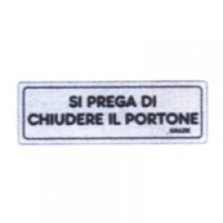 ETICHETTE CHIUDERE IL PORTONE ADESIVA