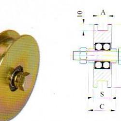 RUOTE GOLA H 2 CUSCINETTI COMBI  MM 120 ART.408.120