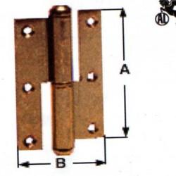 CERNIERE LIBRO PIANE 120X70 DX BRONZATE