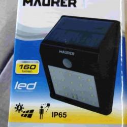 LAMPADE SOLARE LED CON SENSORE MAURER