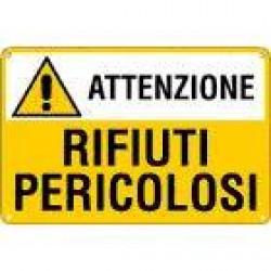 CARTELLI ATTENZIONE RIFIUTI PERICOLOSI 500X333