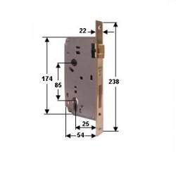 SERRATURA WALLY 262 INFILARE  Entr.35